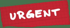 Nomenaments d'urgència. Urgent.