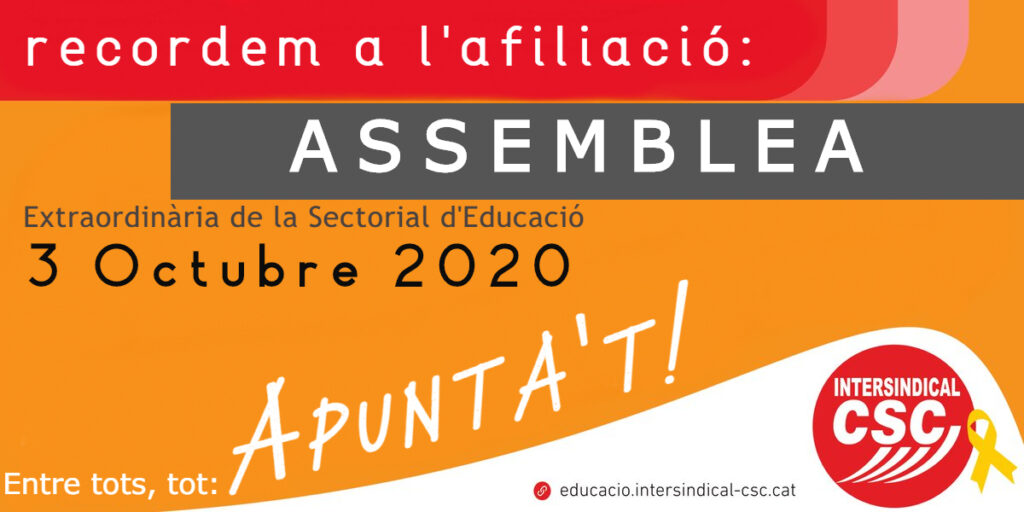 Assemblea 2020 Intersindical-CSC